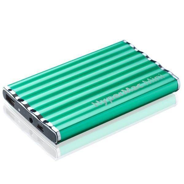 Универсальный внешний аккумулятор HyperJuice Mini 7200 mAh 1 А/ 2.1 А, USBx2 металл зеленыйУниверсальные внешние аккумуляторы<br>Универсальный внешний аккумулятор HyperJuice Mini 7200 mAh 1 А/ 2.1 А, USBx2 металл зеленый<br>