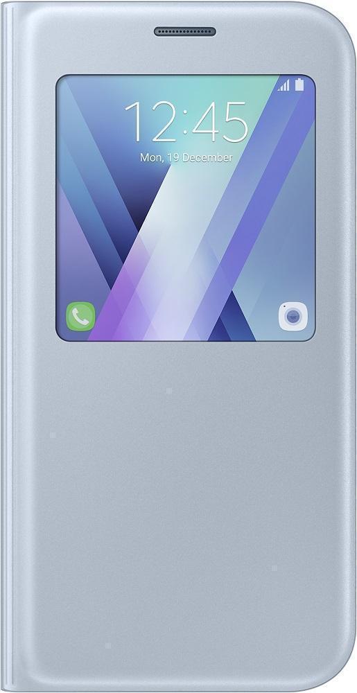 Чехол-книжка Samsung S-View Standing Cover для Galaxy A7 (2017) полиуретан, поликарбонат голубой