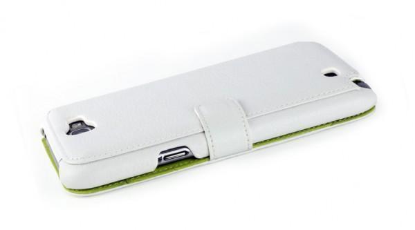 Чехол-книжка Nuoku для Samsung Galaxy Note 2 натуральная кожа (белый)