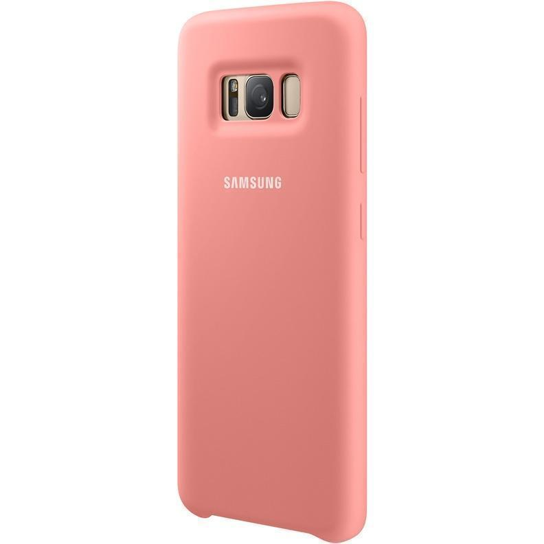 Чехол-накладка Samsung Silicone Cover для Galaxy S8 силикон розовый (EF-PG950TPEGRU)для Samsung<br>Чехол-накладка Samsung Silicone Cover для Galaxy S8 силикон розовый (EF-PG950TPEGRU)<br>