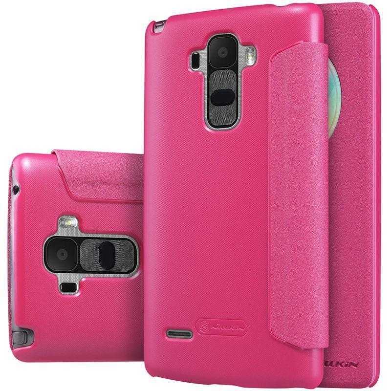 Чехол-книжка Nillkin Sparkle Series для LG G4 пластик-полиуретан (розовый)