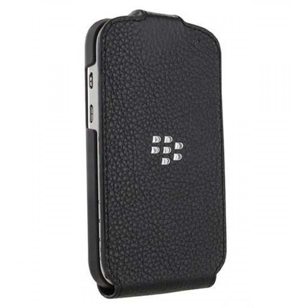 Чехол-книжка Leather Flip Shell для BlackBerry Q10  натуральная кожа (черный)
