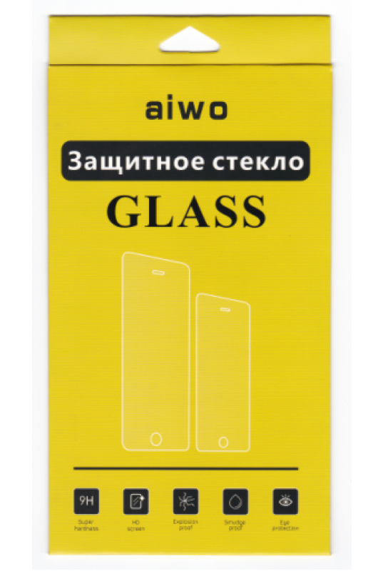 Защитное стекло AIWO (Full) Screen 9H 0.33mm для Meizu U20 антибликовое цветное черное фото