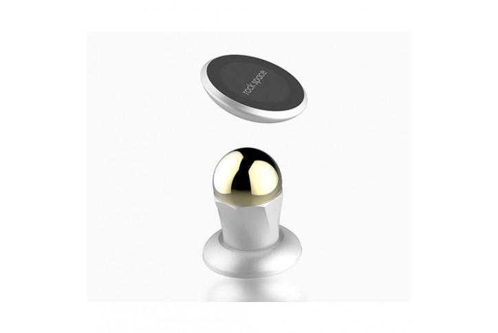 Держатель автомобильный Rock Magnetic Ball Joint магнитный на торпеду для телефона белый (RPH0806)Держатель на стекло или торпеду<br>Держатель автомобильный Rock Magnetic Ball Joint магнитный на торпеду для телефона белый (RPH0806)<br>