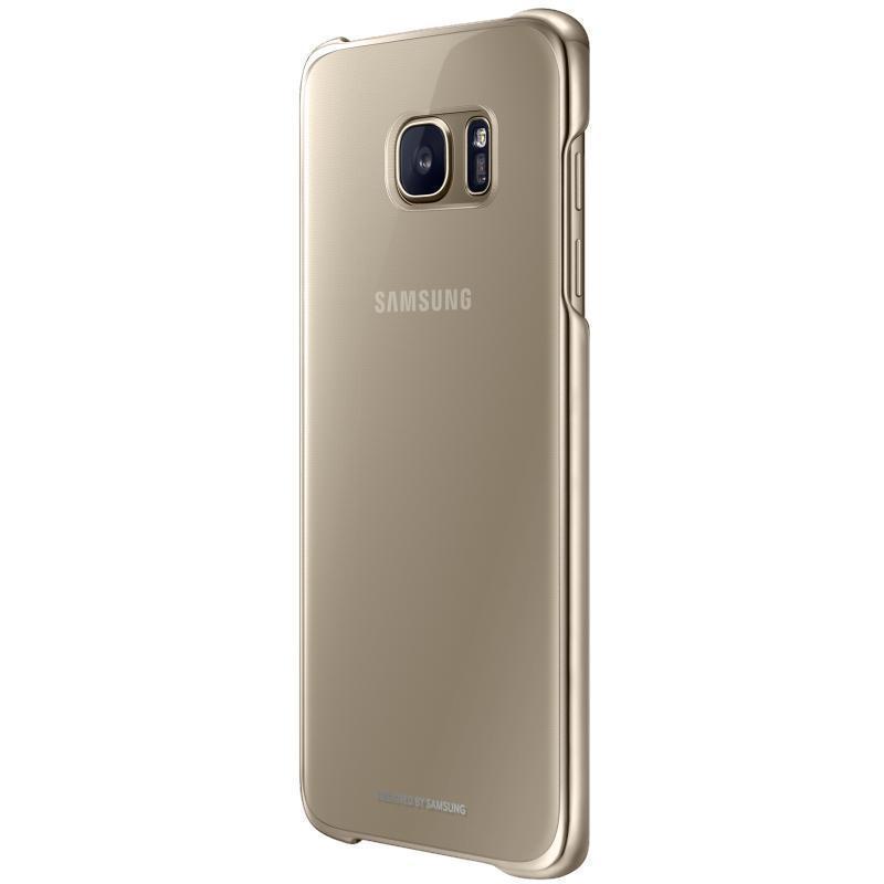Чехол-накладка для Samsung Galaxy S7 Edge силиконовый с бампером (gold) фото