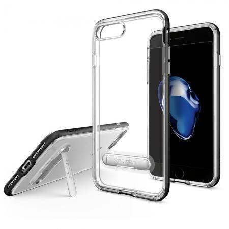 Чехол-накладка Spigen Crystal Hybrid для Apple iPhone 7 Plus/8 Plus Black (SGP 043CS20680)для iPhone 7 Plus/8 Plus<br>Чехол-накладка Spigen Crystal Hybrid для Apple iPhone 7 Plus/8 Plus Black (SGP 043CS20680)<br>