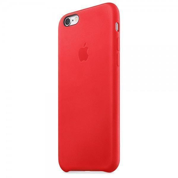 Купить со скидкой Чехол-накладка Apple Leather Case для iPhone 6/6S натуральная кожа (PRODUCT) RED (MKXX2ZM/A)