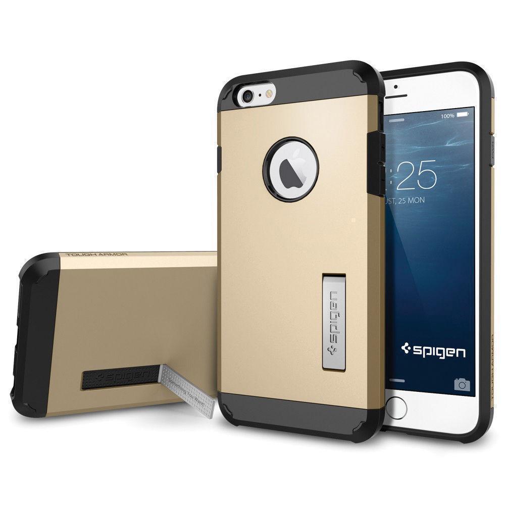 Купить со скидкой Чехол-накладка Spigen Tough Armor для Apple iPhone 6 Plus/6S Plus (SGP10916) champagne gold