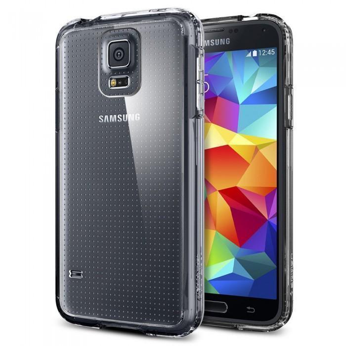 Чехол-накладка Spigen SGP10741 Ultra Hybrid для Samsung Galaxy S5 Crystal Clearдля Samsung<br>Чехол-накладка Spigen SGP10741 Ultra Hybrid для Samsung Galaxy S5 Crystal Clear<br>