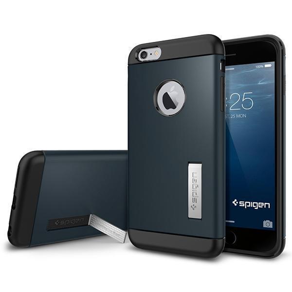 Чехол-накладка Spigen Slim Armor для Apple iPhone 6 Plus/6S Plus Metal Slate (SGP10901)для iPhone 6 Plus/6S Plus<br>Чехол-накладка Spigen Slim Armor для Apple iPhone 6 Plus/6S Plus Metal Slate (SGP10901)<br>
