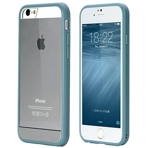 Чехол-накладка Rock Enchanting Series для Apple iPhone 6/6S пластик-силикон прозрачно-синийдля iPhone 6/6S<br>Чехол-накладка Rock Enchanting Series для Apple iPhone 6/6S пластик-силикон прозрачно-синий<br>