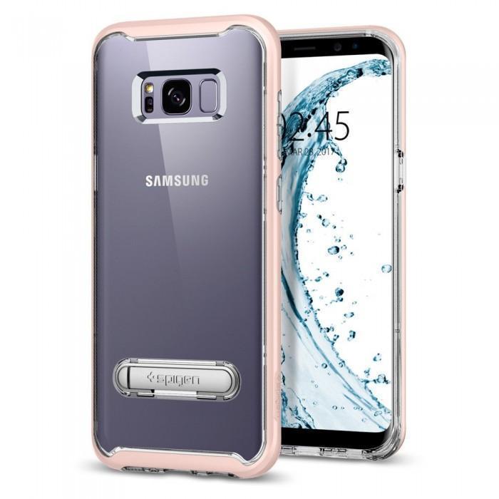 Чехол-накладка Spigen Crystal Hybrid для Samsung Galaxy S8+ розовый (SGP 571CS21440)для Samsung<br>Чехол-накладка Spigen Crystal Hybrid для Samsung Galaxy S8+ розовый (SGP 571CS21440)<br>