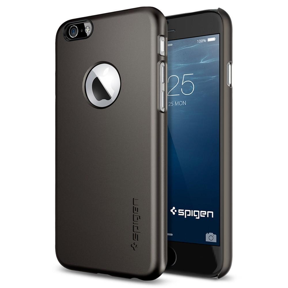 Чехол-накладка Spigen Thin Fit A для Apple iPhone 6/6S пластиковый Gunmetal (SGP10944)для iPhone 6/6S<br>Чехол-накладка Spigen Thin Fit A для Apple iPhone 6/6S пластиковый Gunmetal (SGP10944)<br>