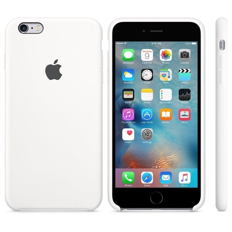 Чехол-накладка Apple Silicone Case для iPhone 6 Plus/6S Plus силиконовый белый (MKXK2ZM/A)для iPhone 6 Plus/6S Plus<br>Чехол-накладка Apple Silicone Case для iPhone 6 Plus/6S Plus силиконовый белый (MKXK2ZM/A)<br>