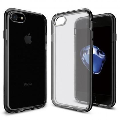 Чехол-накладка Spigen Neo Hybrid Crystal для Apple iPhone 7/8 пластик/силико Jet Black (042CS20838)для iPhone 7/8<br>Чехол-накладка Spigen Neo Hybrid Crystal для Apple iPhone 7/8 пластик/силико Jet Black (042CS20838)<br>