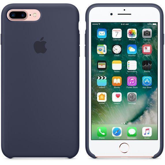 Чехол-накладка Apple Silicone Case для iPhone 7 Plus/8 Plus силиконовый темно-синий (MMQU2ZM/A)для iPhone 7 Plus/8 Plus<br>Чехол-накладка Apple Silicone Case для iPhone 7 Plus/8 Plus силиконовый темно-синий (MMQU2ZM/A)<br>