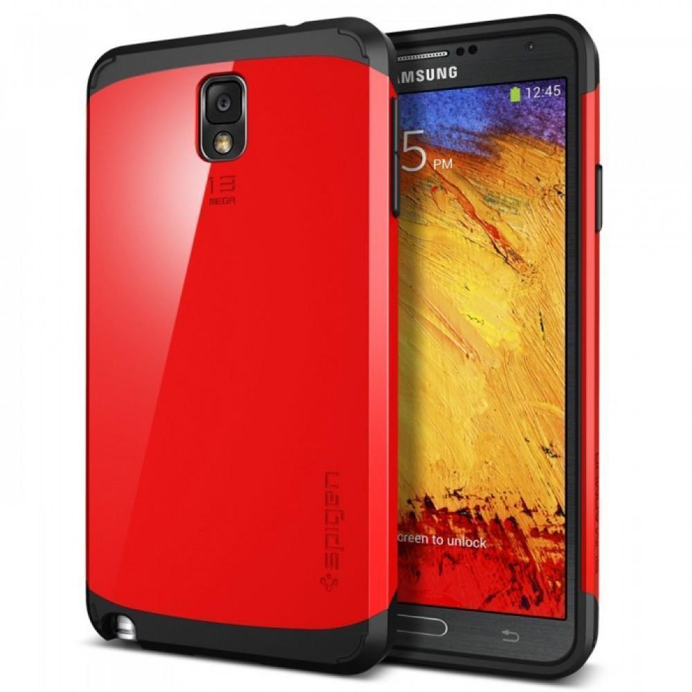 Чехол-накладка Spigen Slim Armor SGP10461 для Samsung Galaxy Note 3 резина, пластик (красный)для Samsung<br>Чехол-накладка Spigen Slim Armor SGP10461 для Samsung Galaxy Note 3 резина, пластик (красный)<br>