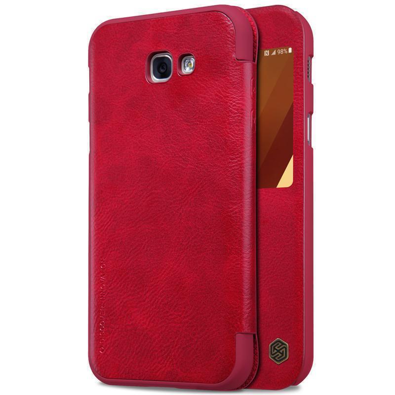 Чехол-книжка Nillkin QIN Leather Case для Samsung Galaxy A7 (2017) A720 натуральная кожа красныйдля Samsung<br>Чехол-книжка Nillkin QIN Leather Case для Samsung Galaxy A7 (2017) A720 натуральная кожа красный<br>