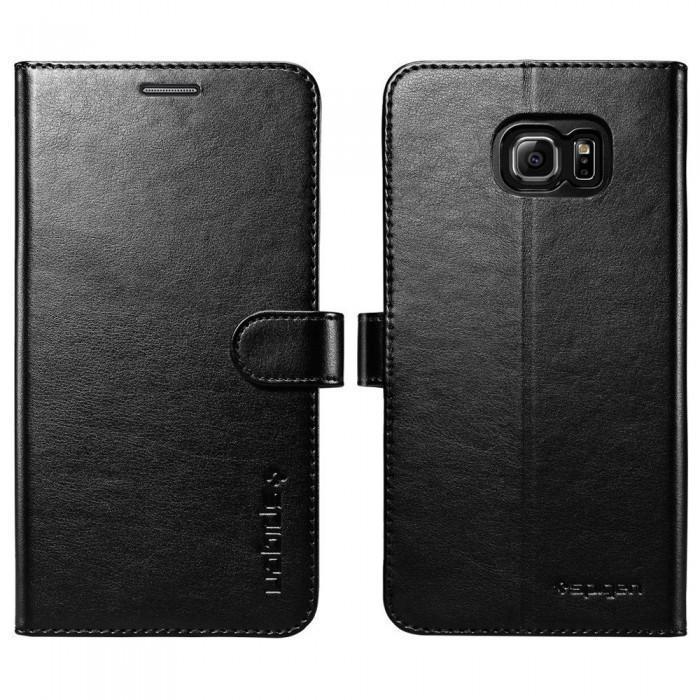 Чехол-книжка Spigen Wallet S SGP11692 для Samsung Galaxy Note 5 пластик, искусственная кожа Blackдля Samsung<br>Чехол-книжка Spigen Wallet S SGP11692 для Samsung Galaxy Note 5 пластик, искусственная кожа Black<br>