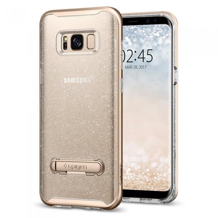 Чехол-накладка Spigen Crystal Hybrid Glitter для Samsung Galaxy S8+ gold кварц (SGP 571CS21284)для Samsung<br>Чехол-накладка Spigen Crystal Hybrid Glitter для Samsung Galaxy S8+ gold кварц (SGP 571CS21284)<br>
