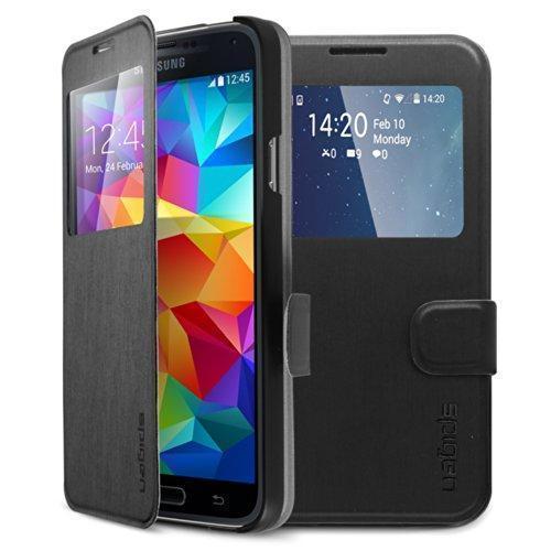 Чехол-книжка Spigen Flip View SGP10842 для Samsung Galaxy S5 резина, пластик черныйдля Samsung<br>Чехол-книжка Spigen Flip View SGP10842 для Samsung Galaxy S5 резина, пластик черный<br>