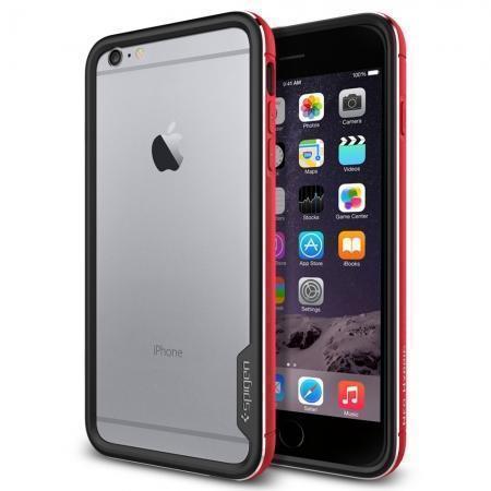 Чехол-бампер Spigen Neo Hybrid EX Metal для Apple iPhone 6 Plus/6S Plus (Metal Red) SGP11194