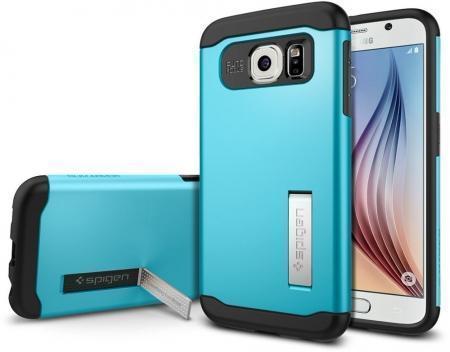 Чехол-накладка Spigen Slim Armor для Samsung Galaxy S6 (SGP11327) Blue Topazдля Samsung<br>Чехол-накладка Spigen Slim Armor для Samsung Galaxy S6 (SGP11327) Blue Topaz<br>