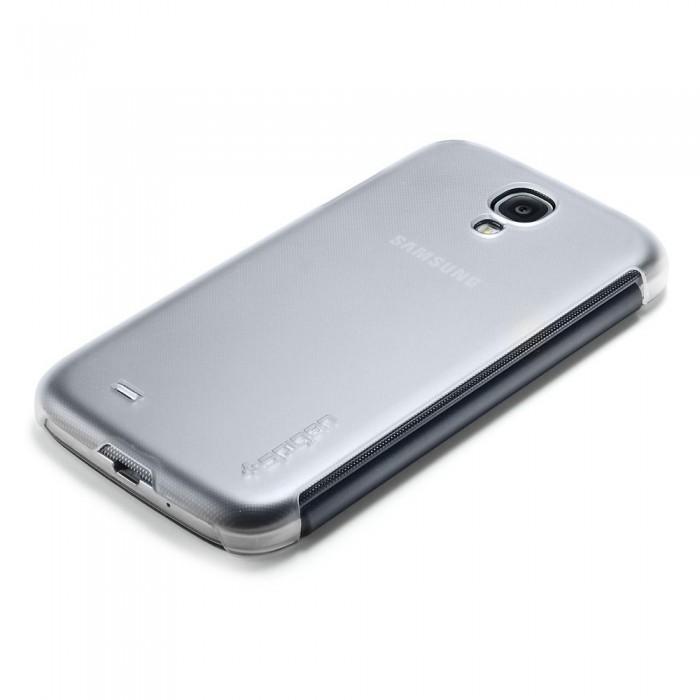 Чехол-накладка Spigen Flip Mate SGP10267 для Samsung Galaxy S4 пластик матово-прозрачныйдля Samsung<br>Чехол-накладка Spigen Flip Mate SGP10267 для Samsung Galaxy S4 пластик матово-прозрачный<br>