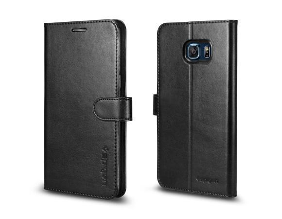 Чехол-книжка Spigen Wallet S SGP11707 для Samsung Galaxy S6 Edge Plus пластик, искожа Blackдля Samsung<br>Чехол-книжка Spigen Wallet S SGP11707 для Samsung Galaxy S6 Edge Plus пластик, искожа Black<br>