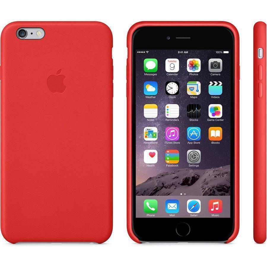 Чехол-накладка Apple Leather Case для iPhone 6 Plus/6S Plus натуральная кожа Bright Red (MGQY2ZM/A)для iPhone 6 Plus/6S Plus<br>Чехол-накладка Apple Leather Case для iPhone 6 Plus/6S Plus натуральная кожа Bright Red (MGQY2ZM/A)<br>