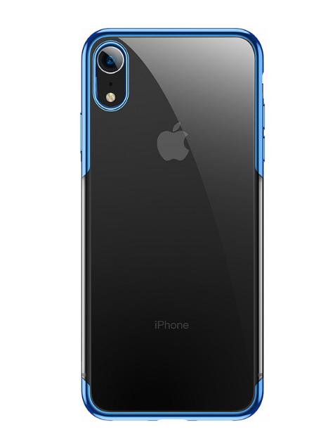 Купить Чехол-накладка Baseus Shining Case для Apple iPhone XR силиконовый (синий)
