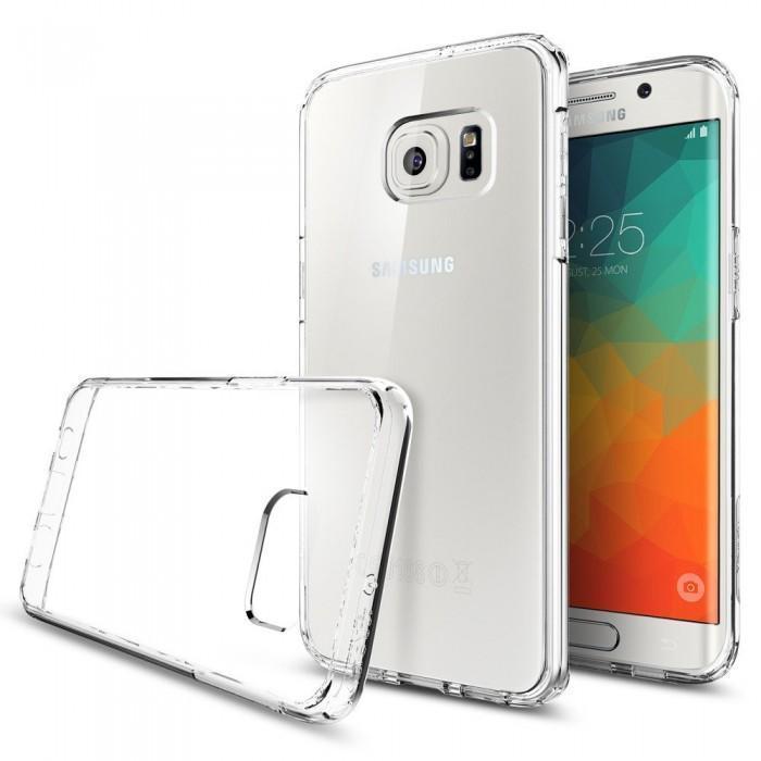 Чехол-накладка Spigen Ultra Hybrid для Samsung Galaxy S6 Edge Plus (SGP11699) Crystal Clearдля Samsung<br>Чехол-накладка Spigen Ultra Hybrid для Samsung Galaxy S6 Edge Plus (SGP11699) Crystal Clear<br>