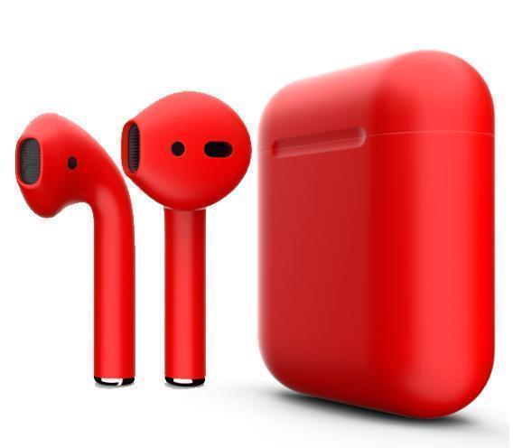 Купить Беспроводные Bluetooth cтерео-наушники Apple AirPods Matte Red