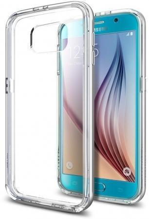 Чехол-накладка Spigen SGP11508 Neo Hybrid CC для Samsung Galaxy S6 Satin Silverдля Samsung<br>Чехол-накладка Spigen SGP11508 Neo Hybrid CC для Samsung Galaxy S6 Satin Silver<br>