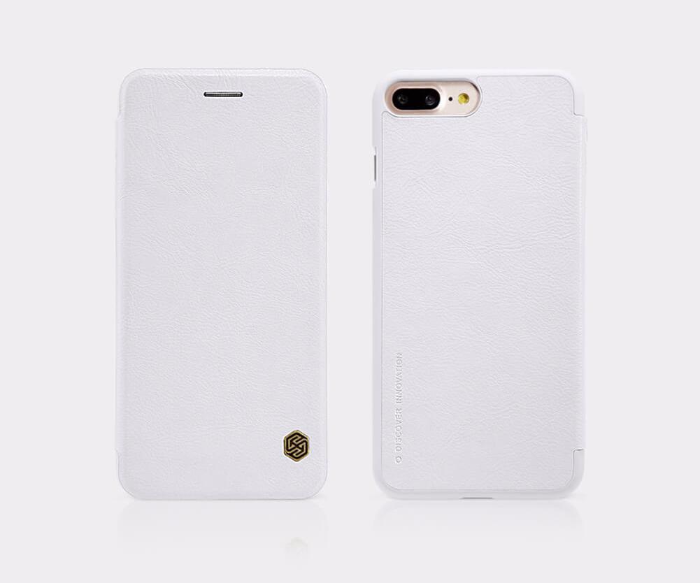 Чехол-книжка Nillkin QIN Leather Case для Apple iPhone 7 Plus/8 Plus натуральная кожа белыйдля iPhone 7 Plus/8 Plus<br>Чехол-книжка Nillkin QIN Leather Case для Apple iPhone 7 Plus/8 Plus натуральная кожа белый<br>