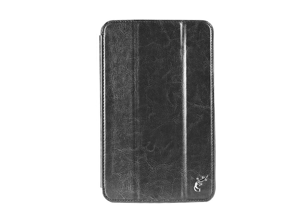Чехол-книжка G-Case для Asus Transformer Book T200TA (натуральная кожа с подставкой) чёрный