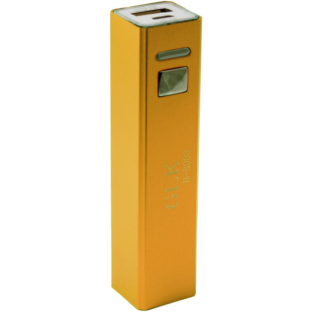 Универсальный внешний аккумулятор Power Bank GLK H-8003 1200 mAh, 1 А, USBx1 металл золотойUSBx1<br>Универсальный внешний аккумулятор Power Bank GLK H-8003 1200 mAh, 1 А, USBx1 металл золотой<br>