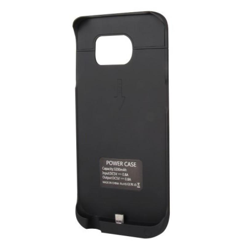 Чехол-аккумулятор 3000mAh для Samsung Galaxy S6 Edge (SM-G925F) Blackдля Samsung<br>Чехол-аккумулятор 3000mAh для Samsung Galaxy S6 Edge (SM-G925F) Black<br>