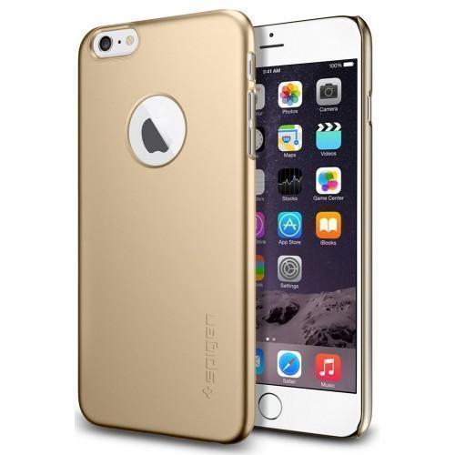 Чехол-накладка Spigen Thin Fit A для Apple iPhone 6 Plus/6S Plus (SGP10889) пластик Шампаньдля iPhone 6 Plus/6S Plus<br>Чехол-накладка Spigen Thin Fit A для Apple iPhone 6 Plus/6S Plus (SGP10889) пластик Шампань<br>