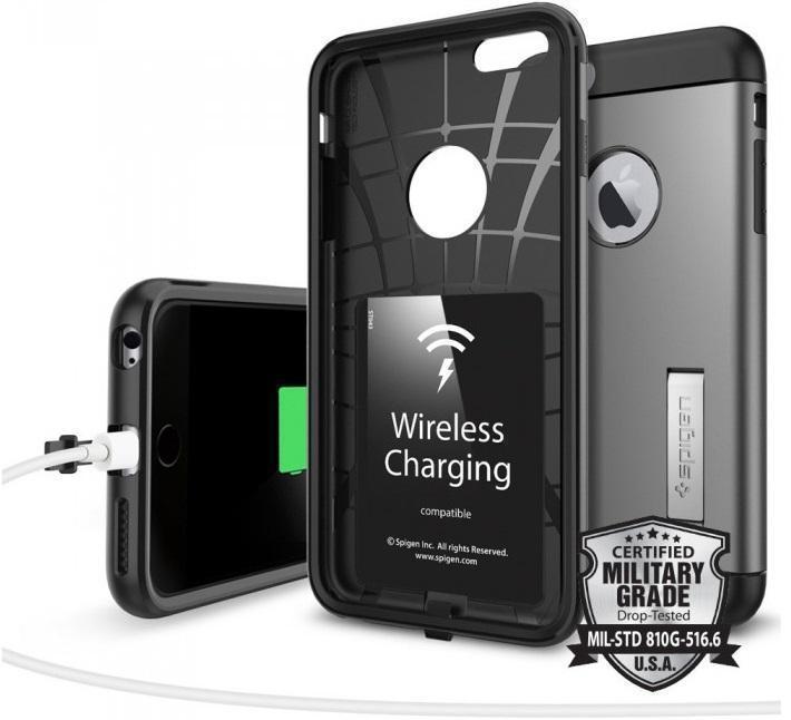 Чехол-накладка Spigen Slim Armor Volt для Apple iPhone 6 Plus/6S Plus (SGP11566) пластик Темно-серый