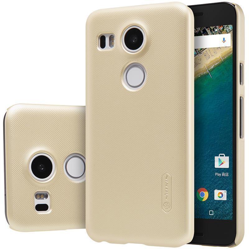 Чехол-накладка Nillkin Frosted Shield для LG Nexus 5X H791 (пластиковый) Goldдля LG<br>Чехол-накладка Nillkin Frosted Shield для LG Nexus 5X H791 (пластиковый) Gold<br>