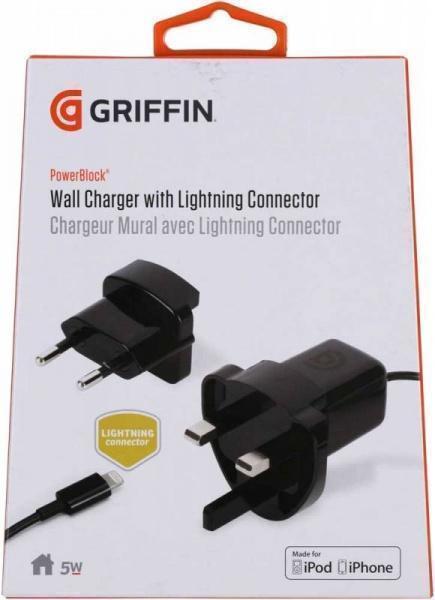 Сетевое зарядное устройство Griffin PowerBlock 5W 1A Lightning 90 см черный (GA36560)Сетевые зарядные устройства для смартфонов/планшетов<br>Сетевое зарядное устройство Griffin PowerBlock 5W 1A Lightning 90 см черный (GA36560)<br>