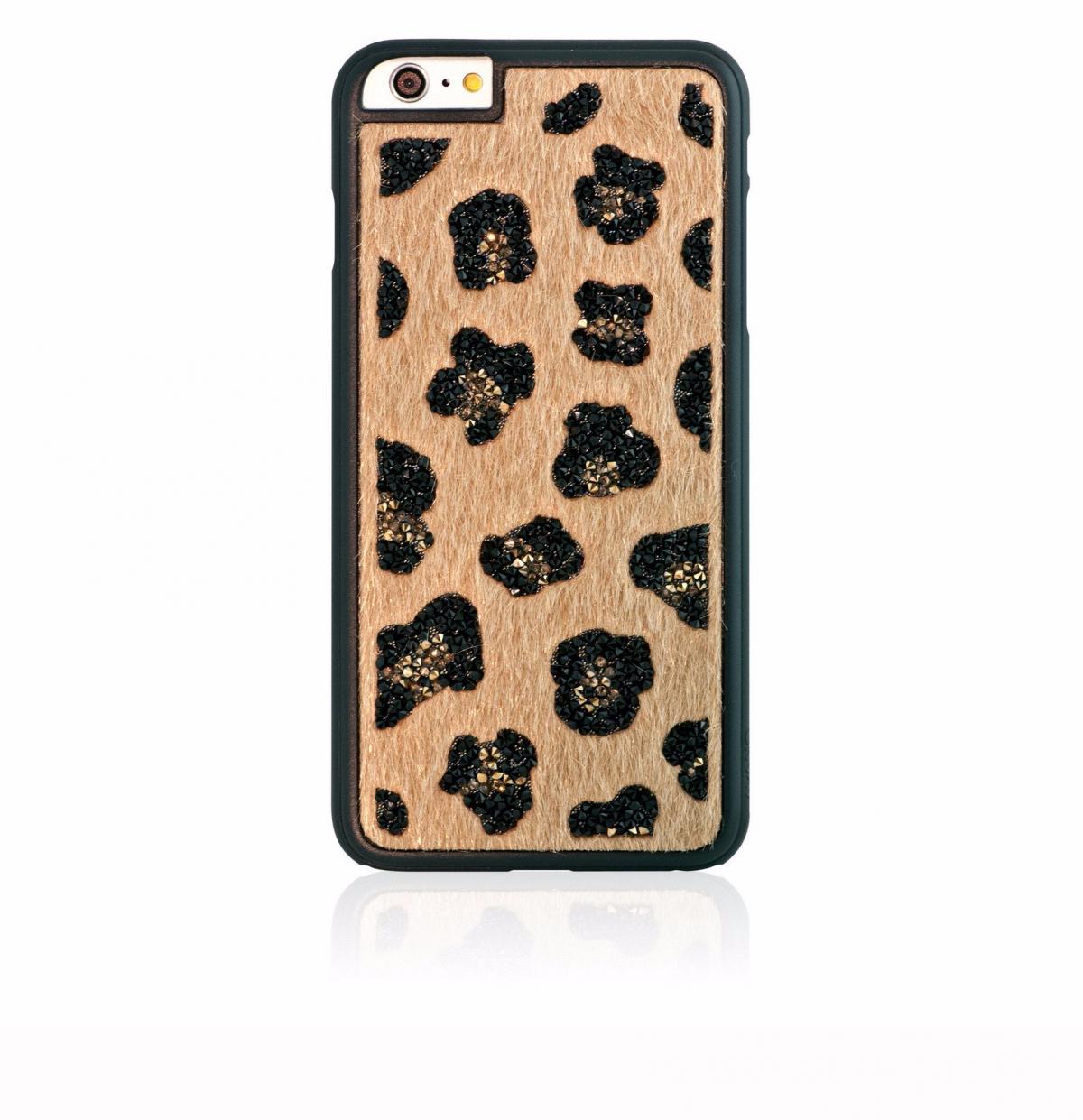 Чехол-накладка Bling My Thing Glam для Apple iPhone 6 Plus/6S Plus Leopard Beigeдля iPhone 6 Plus/6S Plus<br>Чехол-накладка Bling My Thing Glam для Apple iPhone 6 Plus/6S Plus Leopard Beige<br>