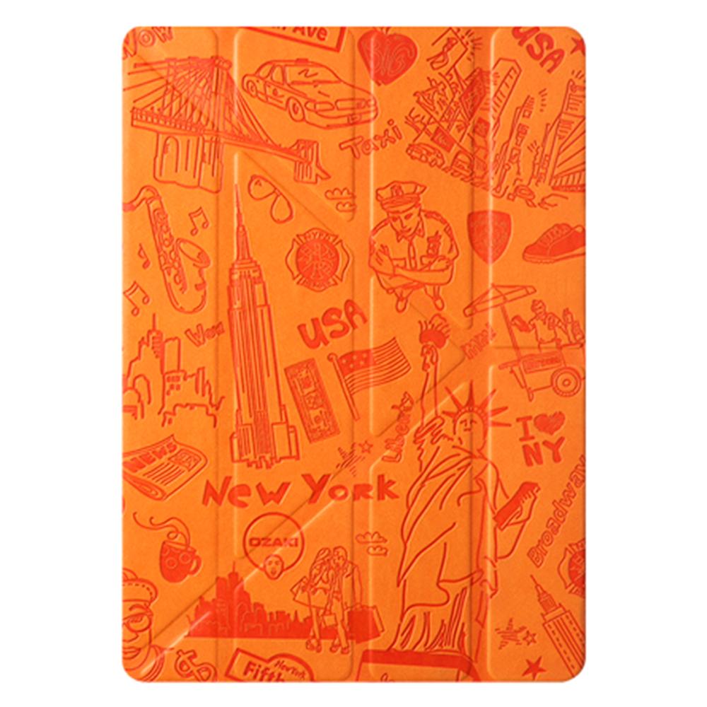 Чехол-книжка Ozaki O!coat Travel New York для Apple iPad mini 4 (полиуретан с подставкой) оранжевый