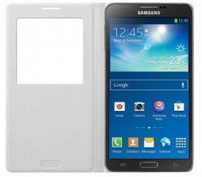 Чехол-книжка Samsung S-View Cover для Galaxy Note 3 полиуретан, поликарбонат (белый) EF-CN900BWEGRU фото