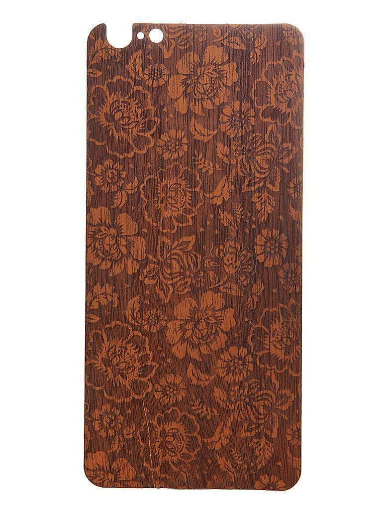 Задняя наклейка Vanitist Flower Pattern для Apple iPhone 6 Plus/6S Plus тёмно-коричневое дерево