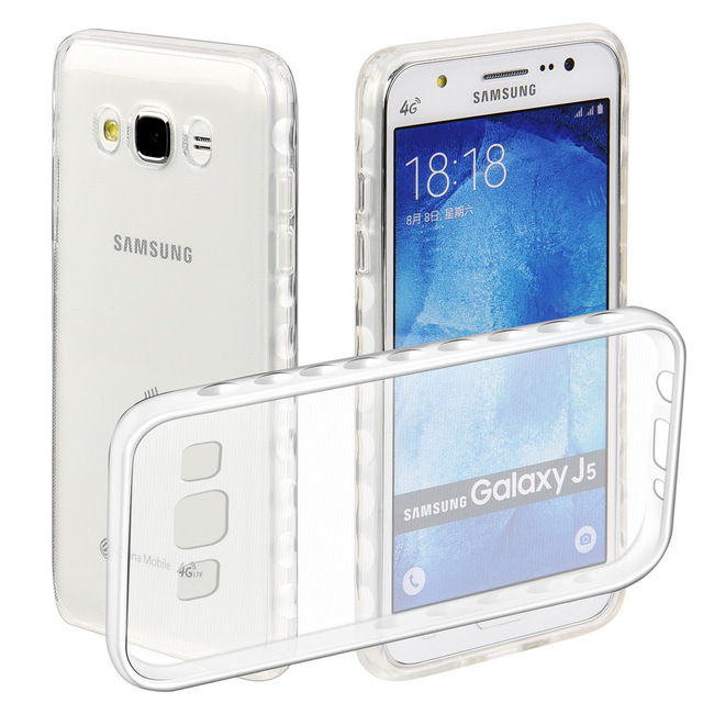 Чехол-накладка для Samsung Galaxy J5 SM-J500 силиконовый (прозрачный) фото