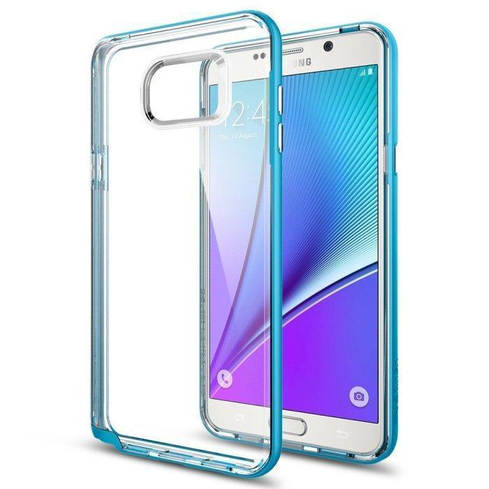 Чехол-накладка Spigen Neo Hybrid Crystal для Samsung Galaxy Note 5 (SGP11712) Blue Topazдля Samsung<br>Чехол-накладка Spigen Neo Hybrid Crystal для Samsung Galaxy Note 5 (SGP11712) Blue Topaz<br>