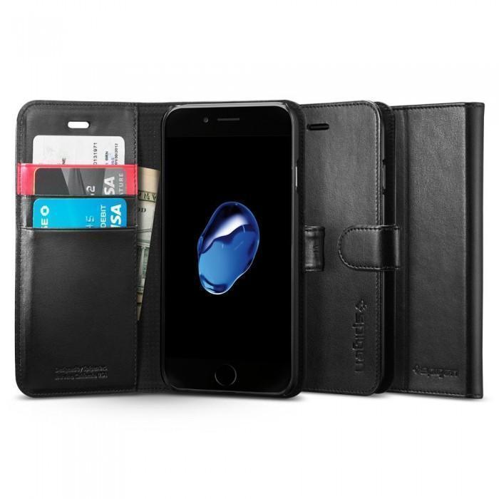 Чехол-книжка Spigen Wallet S для Apple iPhone 7/8 натуральная кожа Black (SGP 042CS20545)для iPhone 7/8<br>Чехол-книжка Spigen Wallet S для Apple iPhone 7/8 натуральная кожа Black (SGP 042CS20545)<br>