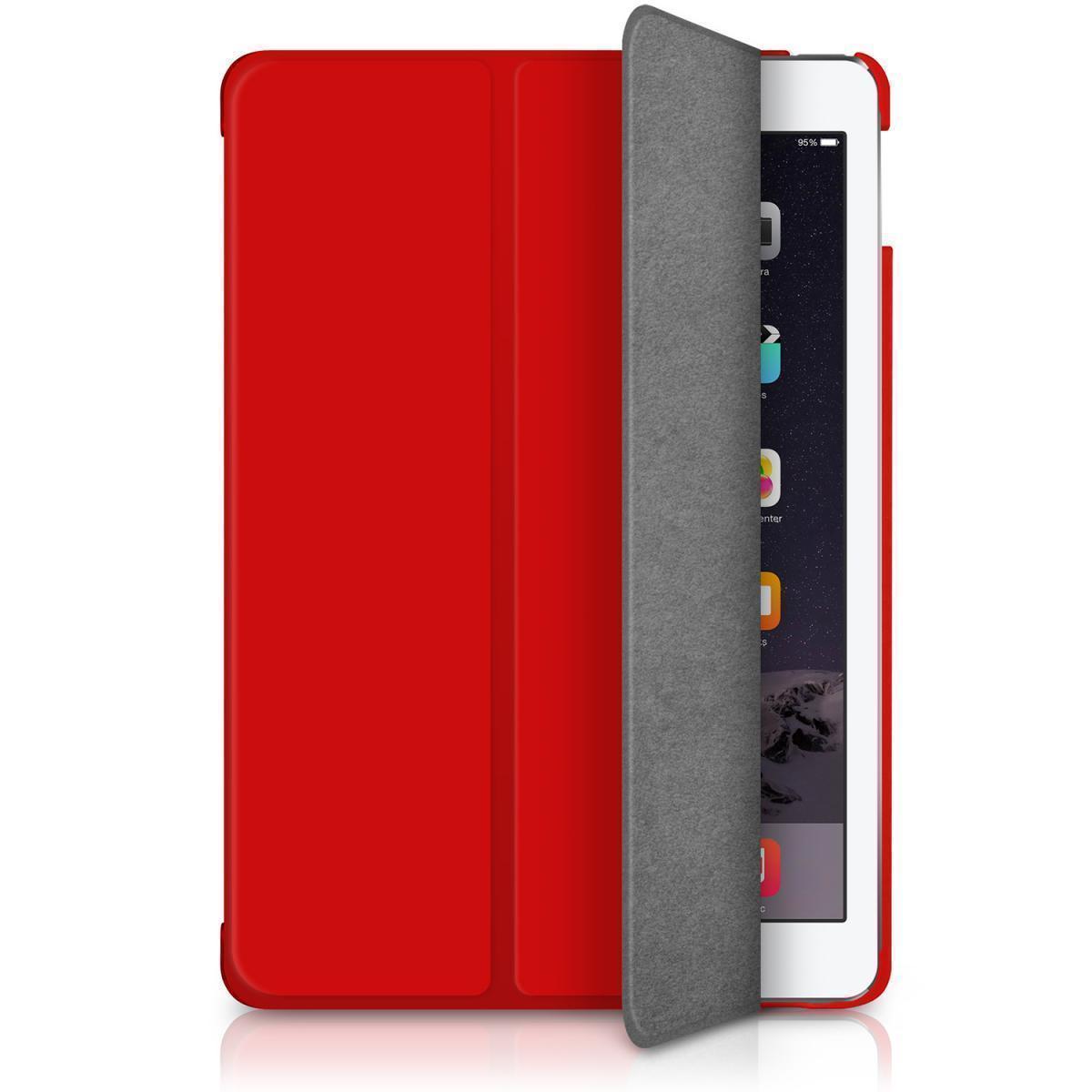 Чехол-книжка MacAlly для Apple iPad Air (полиуретан с подставкой) бордовый